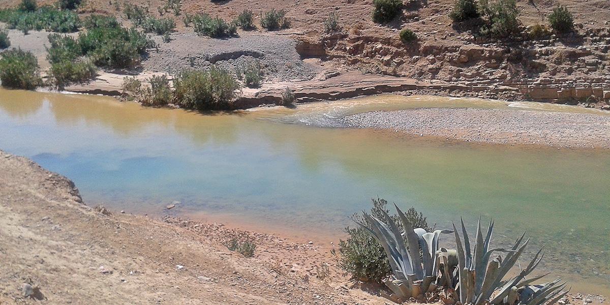 Cours d'eau du bassin du Sebou au Maroc