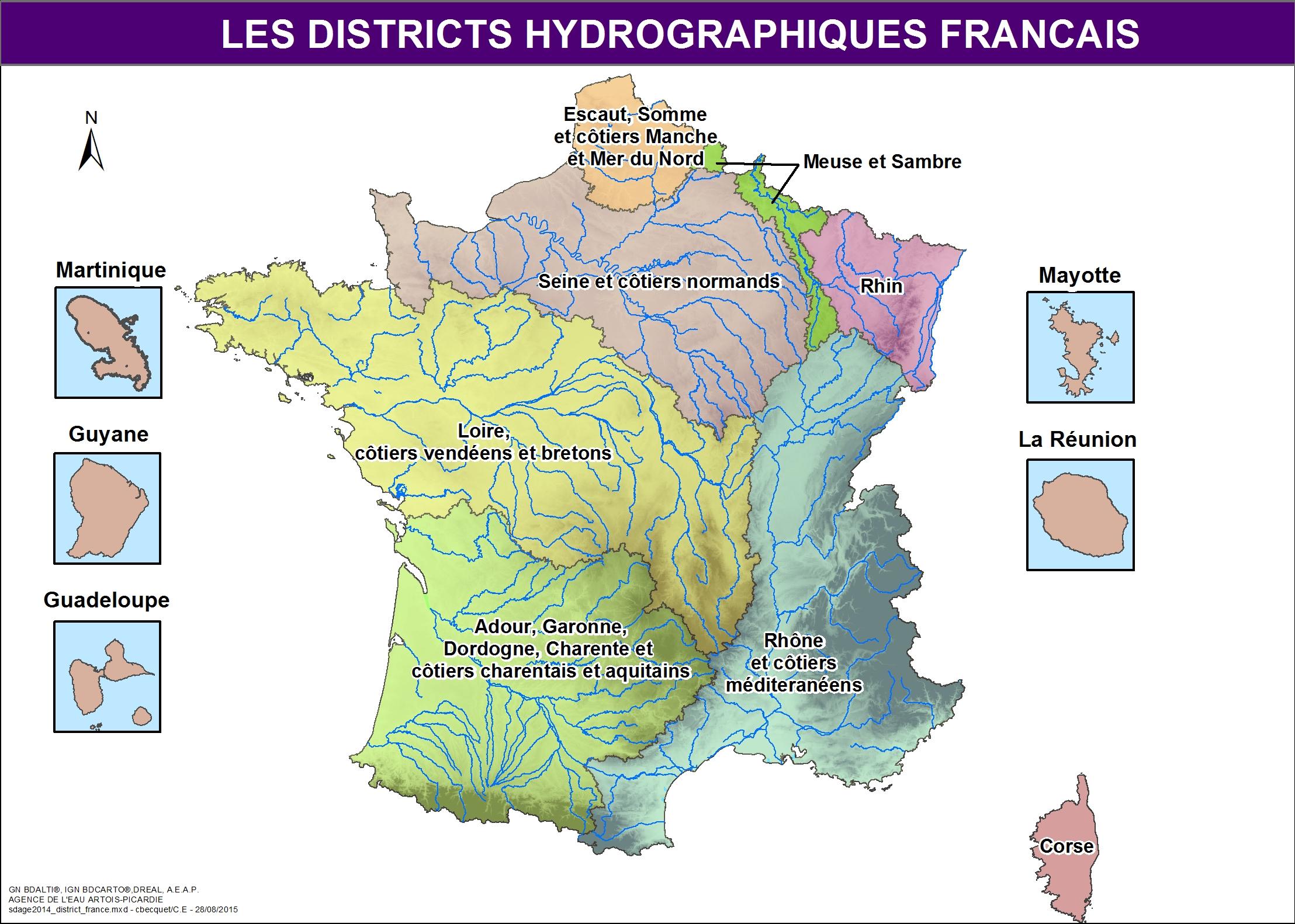 Cartes du SDAGE 2016-2021   Agence de l'Eau Artois-Picardie
