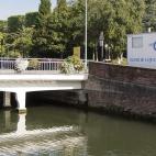 Station de mesures en activité sur la Scarpe à Douai