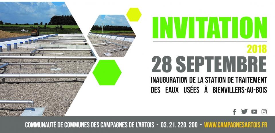 Invitation inauguration station d'épuration Bienvillers au Bois