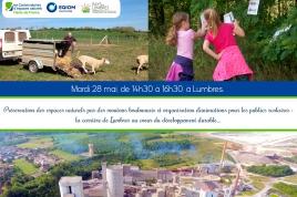 Préservation des espaces naturels par des moutons boulonnais et organisation d'animations pour les publics scolaires : la carrière de Lumbres au coeur du développement durable...