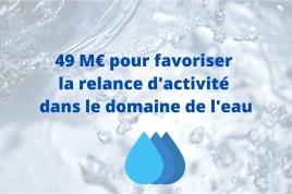 Covid19 : 49 M€ pour favoriser la relance d'activité dans le domaine de l'eau