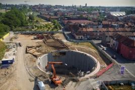 Visite de chantier du bassinb de stockage de Brondeloire à Roubaix