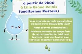 Invitation - 16 novembre 2021- Lille Grand Palais - L'avenir de l'eau dépend de nous, vous