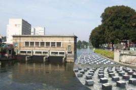 Visite des travaux de rétablissement de la continuité hydraulique et écologique de la Somme à l'usine St Michel de Amiens